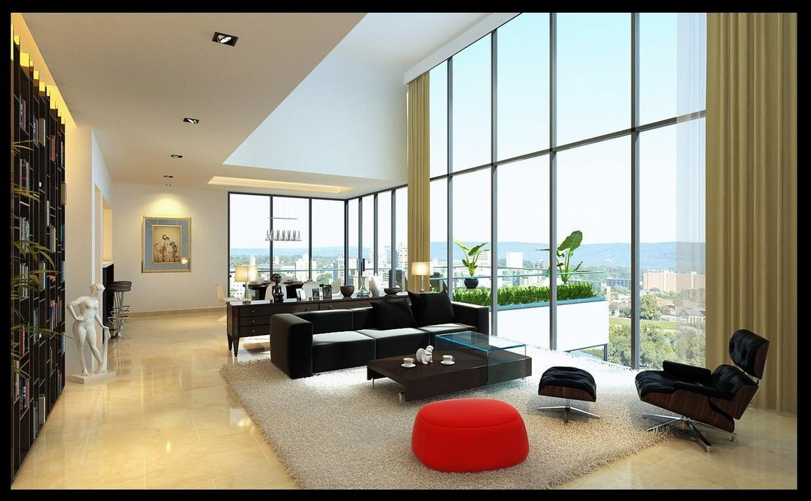impressive-luxury-living-room-white-marble-glass-windows