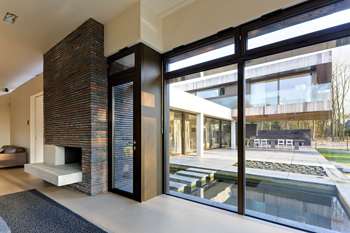Glass Windows For Homes : Wide glass window modern design dazzling