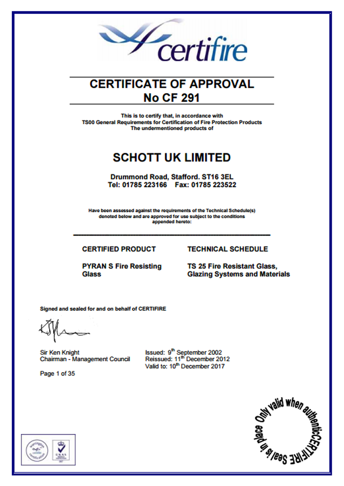 Schott-UK-Limited-Certificate-CF291