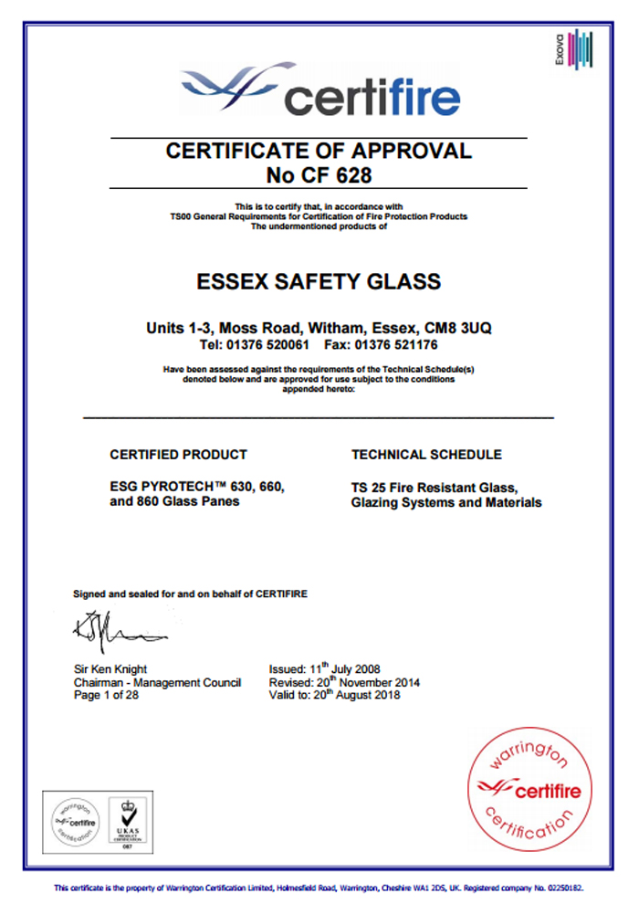 certifire-essex-safety-glass